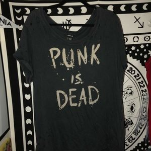 Torrid Punk is Dead T-shirt with embellishments